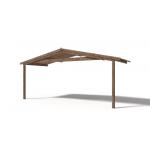 Casetta in legno da giardino Ines cm 400X400