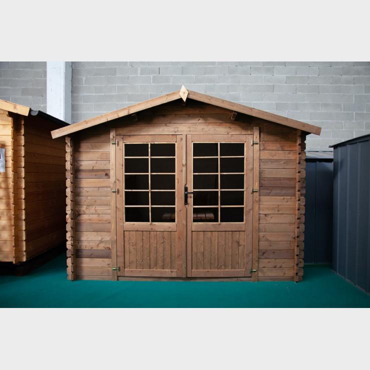 Casetta in legno da giardino Cleo cm. 300X300x235h