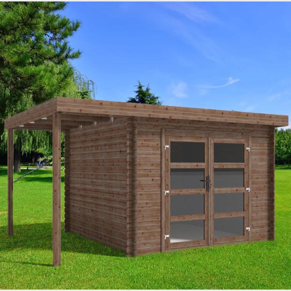 Casetta in legno da giardino Bella cm 411X300