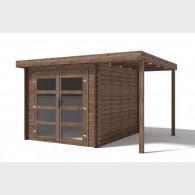 Casetta in legno da giardino Lidia cm 361X300