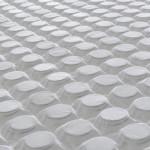 """Materasso """"Pale"""" in memory foam e micromolle con tessuto Termosensitive 9 zone - altezza 25cm"""
