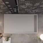 Piatto Doccia effetto Pietra Griglia Laterale Grigio Chiaro | Relax