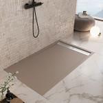 Piatto Doccia Moka Mineral Marmo Griglia Laterale| Relax