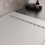 Piatto Doccia Mineral Marmo Griglia Laterale Bianco | Prestige