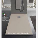 Piatto doccia ELEGANCE Resina Mineral Marmo Crema Sabbia Pietra Ardesia