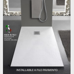 Piatto doccia ELEGANCE Mineral Marmo Bianco Pietra Ardesia