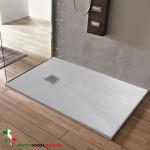 Piatto doccia ELEGANCE Resina Mineral Marmo Grigio Chiaro Ice Pietra Ardesia