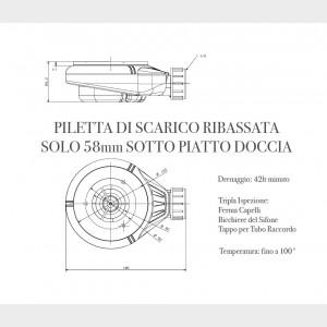 Piatto Doccia Mineral Marmo Griglia Laterale Grigio Chiaro | Prestige