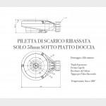 Piatto Doccia Mineral Marmo Griglia Laterale Moka | Prestige