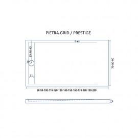 Piatto Doccia Ardesia MOKA Mineral Marmo | PIETRA GRID