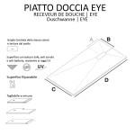 Piatto Doccia Mineral Marmo Cioccolato Marrone 2,5cm | Eye