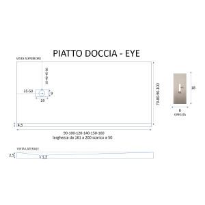 Piatto Doccia Mineral Marmo Grigio Chiaro 2,5cm | Eye