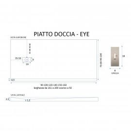 Piatto Doccia Mineral Marmo Sabbia 2,5cm | Eye