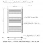 Radiatore Termoarredo scaldasalviette 80x45 bianco interasse 40 cm