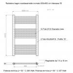 Radiatore Termoarredo scaldasalviette 80x60 Cromato interasse 55 cm