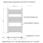Radiatore Termoarredo scaldasalviette 80x45 Cromato interasse 40 cm