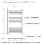 Radiatore Termoarredo scaldasalviette 80x50 Cromato interasse 45 cm