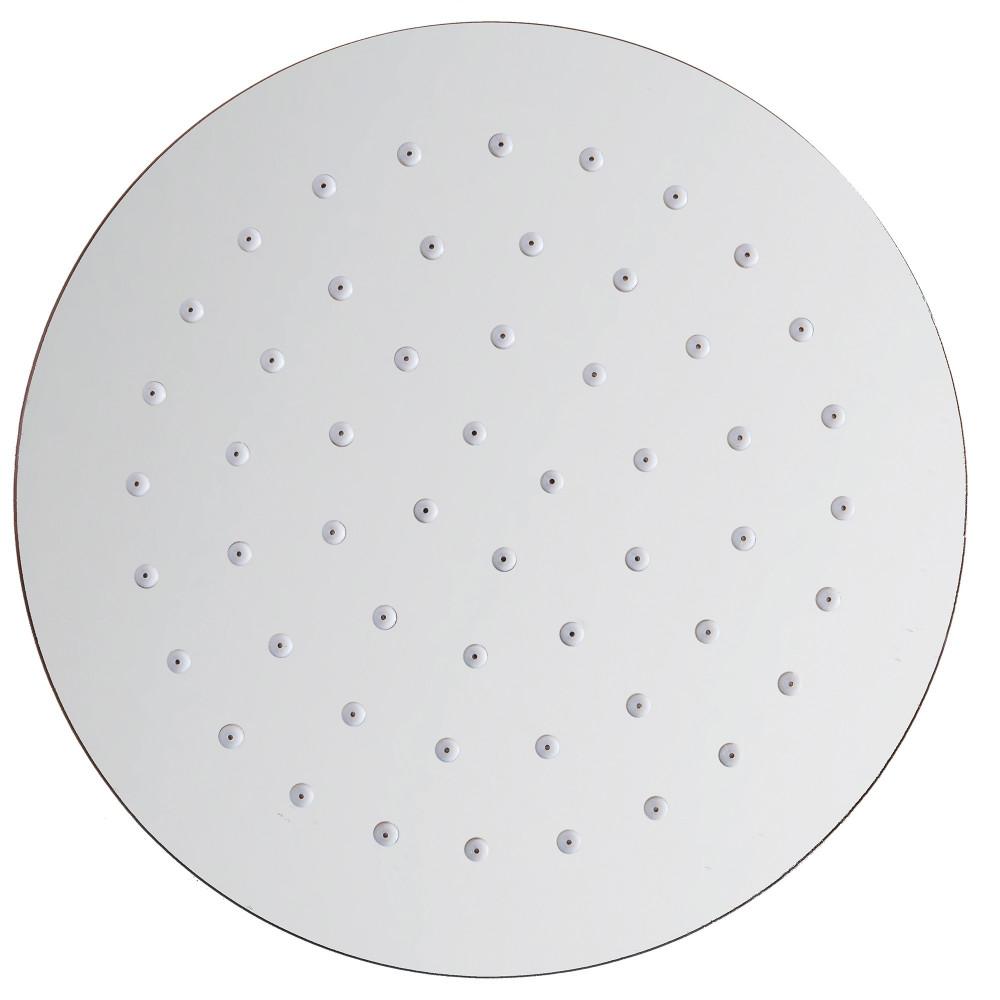 Soffione doccia tondo in acciaio 20cm