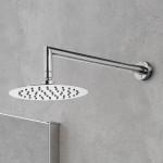 Soffione doccia tondo in acciaio 25cm