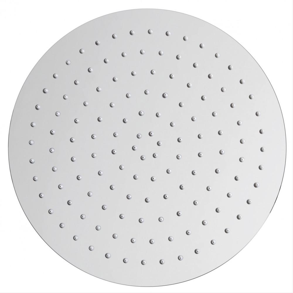Soffione doccia tondo in acciaio 30cm