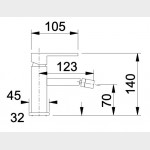 Rubinetto bidet quadrato 1 leva cromato | Manhattan