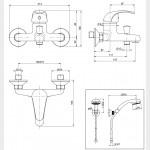 Gruppo vasca con doccia duplex cromato | Squalo