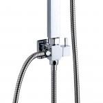 Saliscendi colonna doccia cromata con soffione 30x30 | PONSO