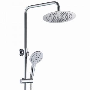 Saliscendi colonna doccia tonda con soffione 20cm | PAULAN