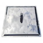 Colonna doccia cromata termostatica soffione 25x25 POIANA