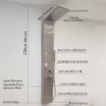 Colonna Doccia Idromassaggio Acciaio Spazzolato| Smeralda