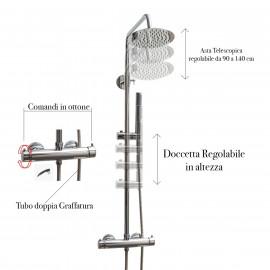 Colonna Doccia Termostatica Rotonda | PIAVE