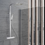 Colonna doccia con miscelatore Squadrata | Boitè